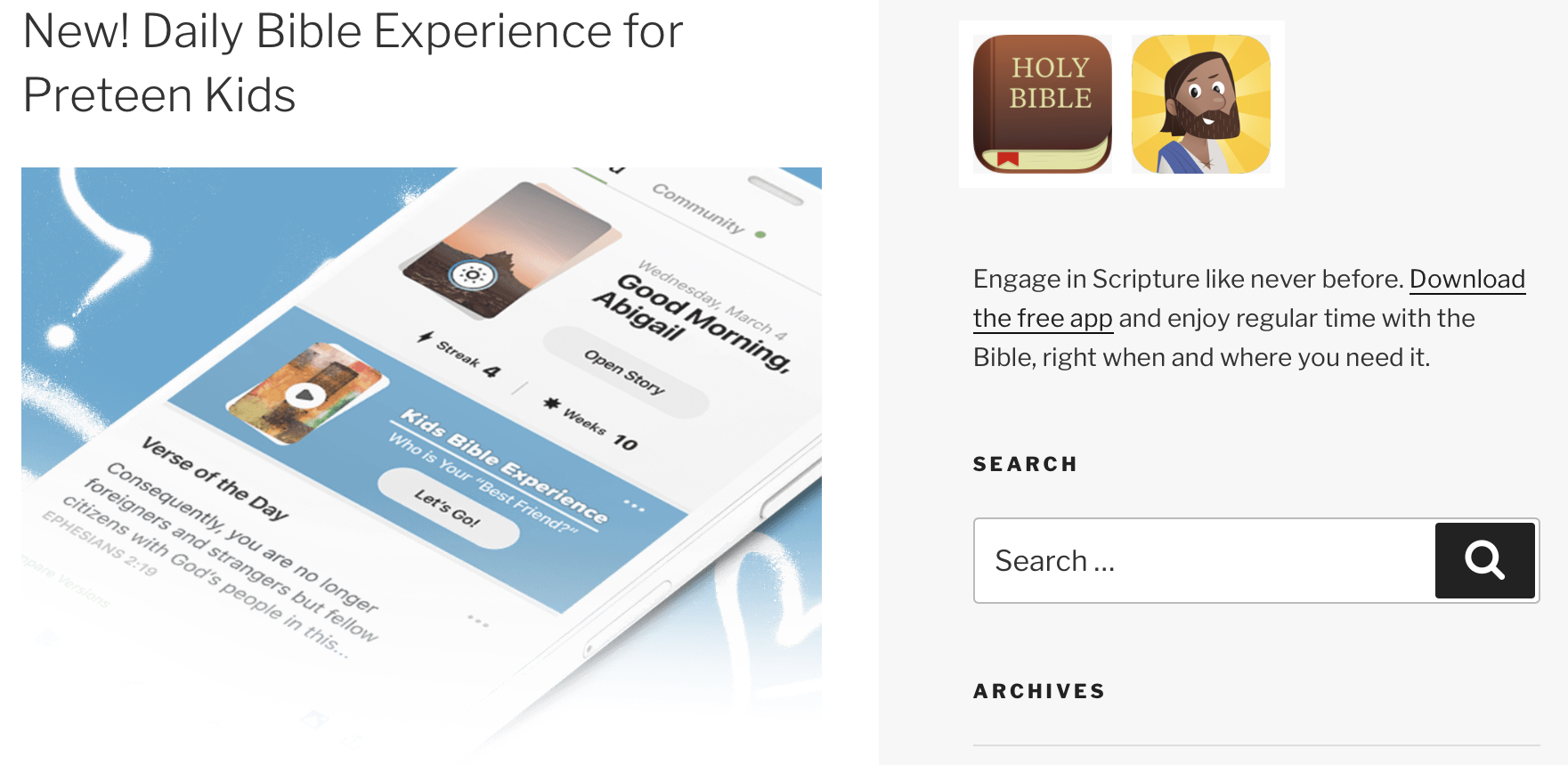 Children's Bible Resources