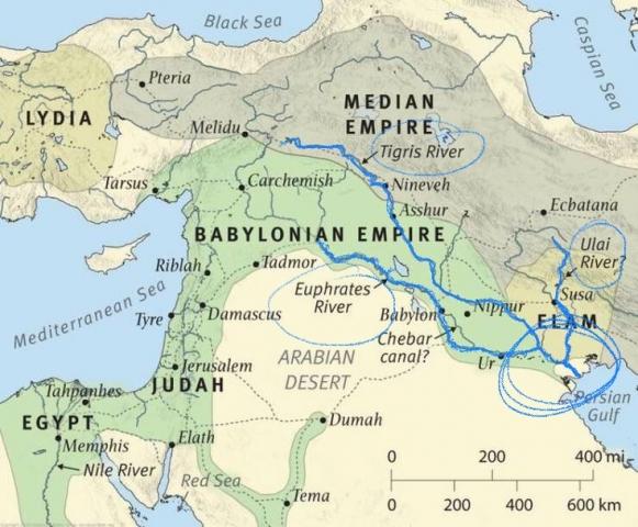 3 rivers in Daniel